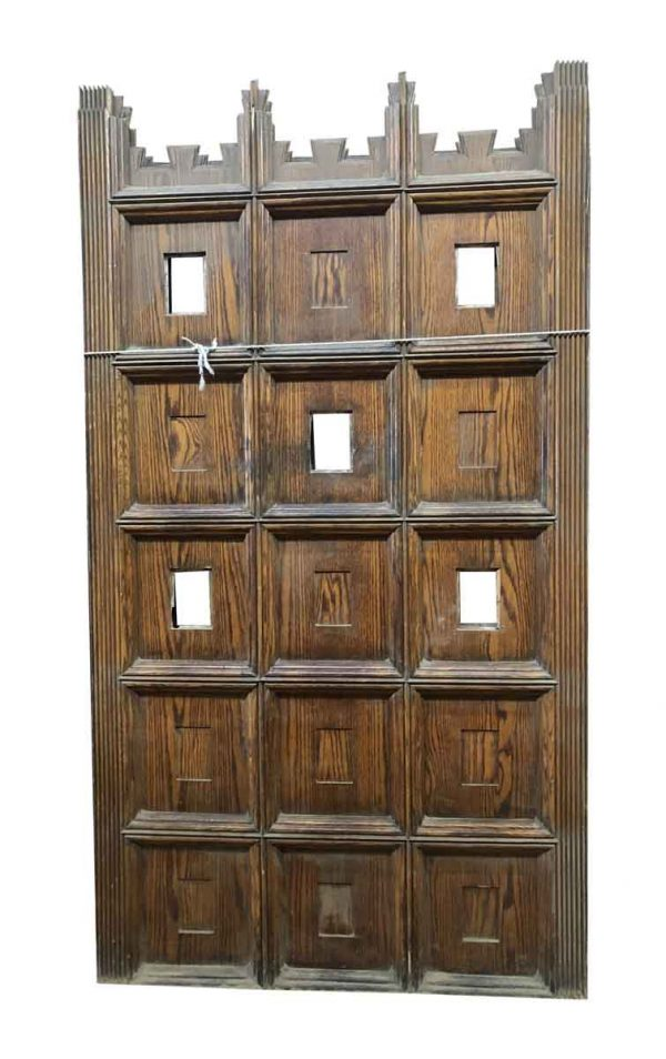 Paneled Rooms & Wainscoting - Oak Art Deco Panels or Dividers with Molding