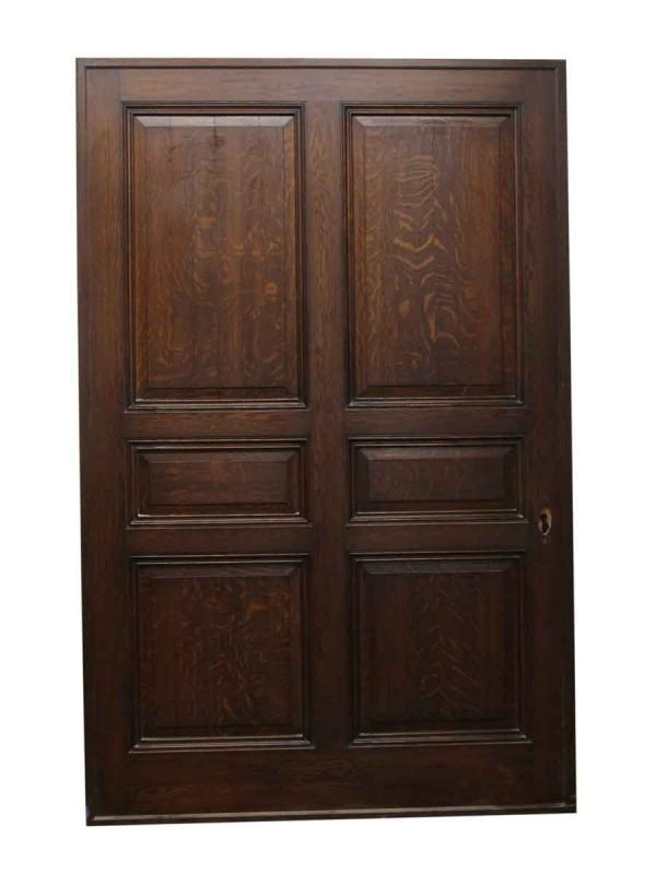 Pocket Doors - Large Quarter Sawn Oak Pocket Door from Rose Hill