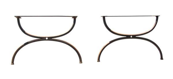 Table Bases - Pair of Cast Iron Coffee Table Legs
