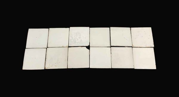 Wall Tiles - 4.75 in. Plain White Antique Wall Tile Set