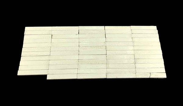 Wall Tiles - 6 x 0.875 Crackled Off White Wall Tile Set