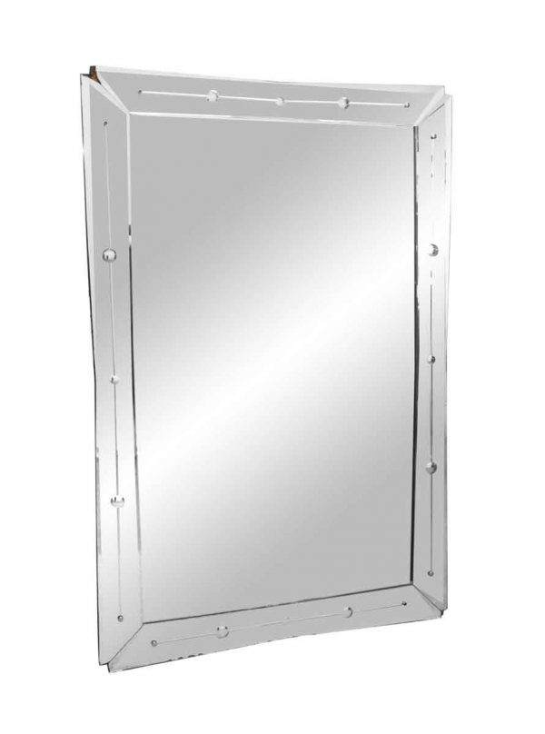 Antique Mirrors - Art Deco Mirror with Etched Frame