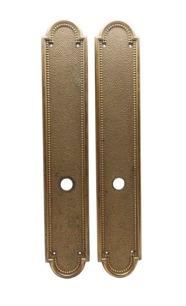 Back Plates - Antique Bronze Tall French Door Back Plates