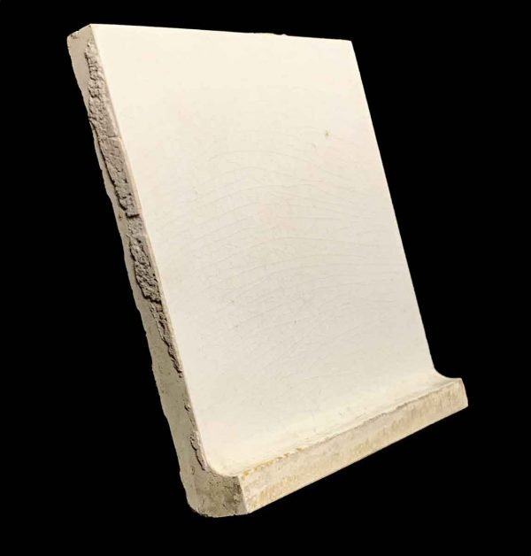Bull Nose & Cap Tiles - 5.875 in. Square Off White Baseboard Tile