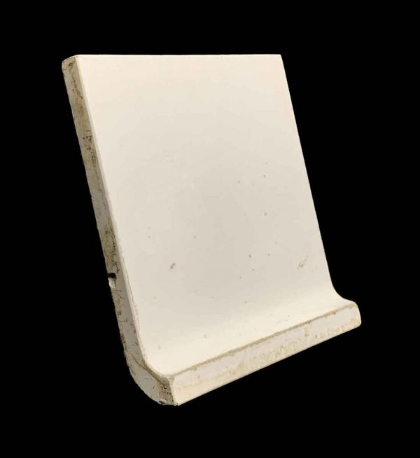 Bull Nose & Cap Tiles - 5.875 in. Square White Base Cap Tile