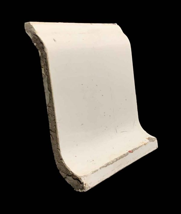 Bull Nose & Cap Tiles - 5.875 x 6.125 Off White S Shaped Baseboard Tile