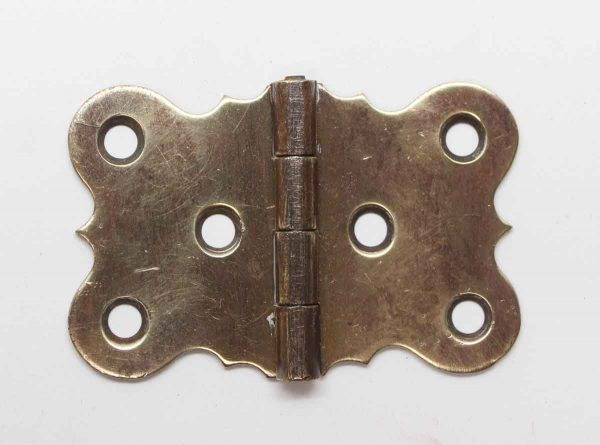 Cabinet & Furniture Hinges - Antique Brass Butterfly Surface Cabinet Hinge