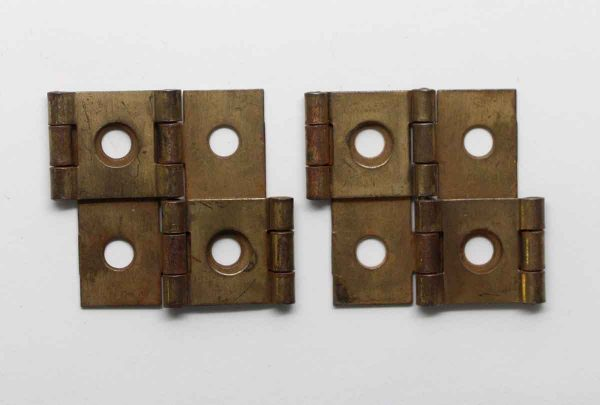 Cabinet & Furniture Hinges - Pair of Brass Stanley Double Action Cabinet Hinges