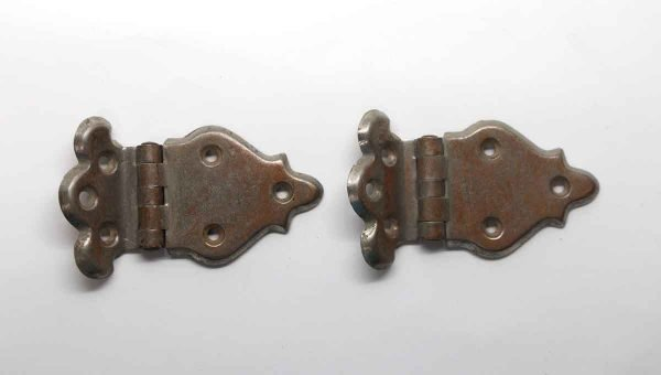 Cabinet & Furniture Hinges - Pair of Nickel Ice Box Offset Cabinet Hinges