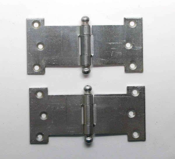 Cabinet & Furniture Hinges - Pair of Steel Parliament Cabinet Hinges