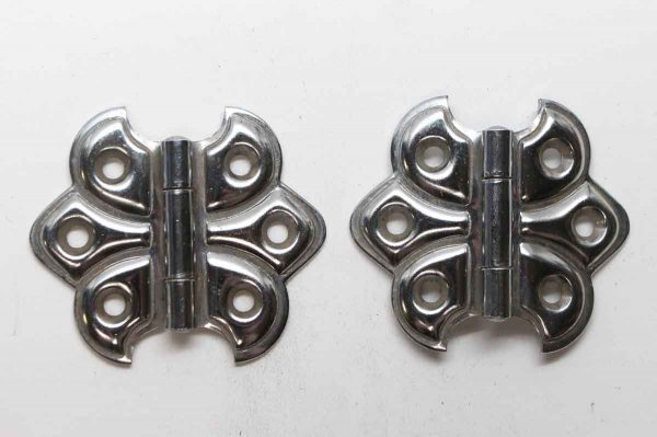 Cabinet & Furniture Hinges - Steel Pair of 2.25 in. Butterfly Surface Cabinet Hinges