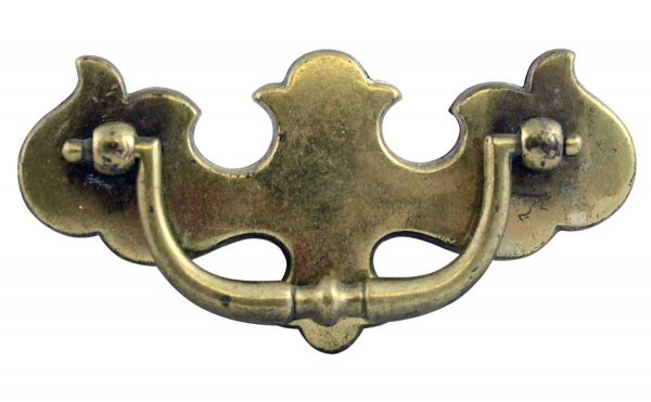 Cabinet & Furniture Pulls - Chippendale Style Traditional Brass Dresser Pull