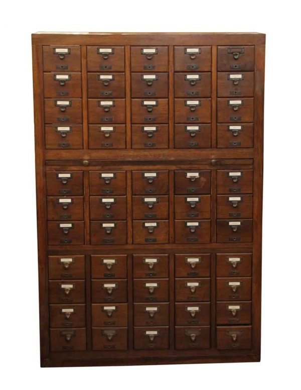 Commercial Furniture - Walnut Card Catalogue with Brass Hardware