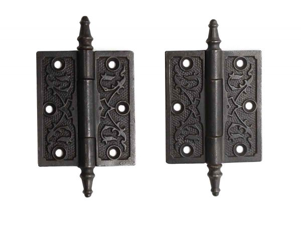 Door Hinges - Pair of 3.5 x 3 Cast Iron Butt Door Hinges