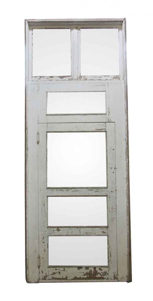 Entry Doors - Large Wood Door with Transom