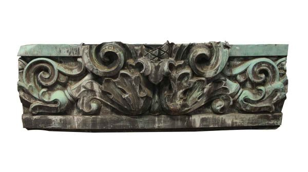 Exterior Materials - Decorative Copper Cornice with Acanthus Leaf Detail