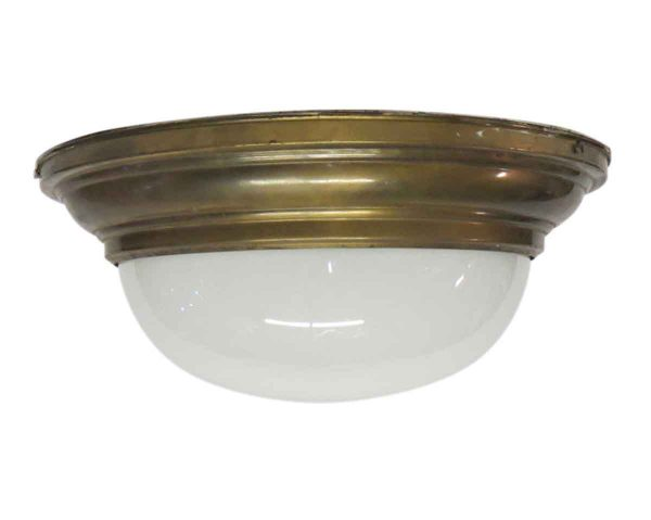 Flush & Semi Flush Mounts - Milk Glass Dome Light Flush Mount Fixture
