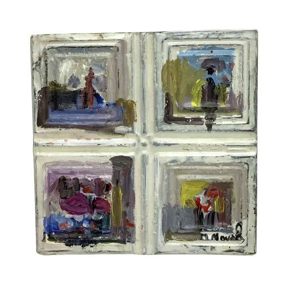 Hand Painted Panels - Abstract Hand Painted Novak Tin Panel