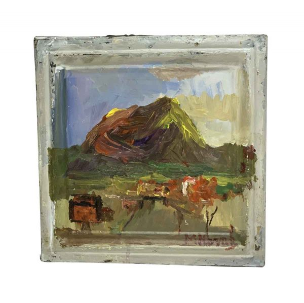 Hand Painted Panels - Popocatepetl Hand Painted Mladen Novak Tin Panel
