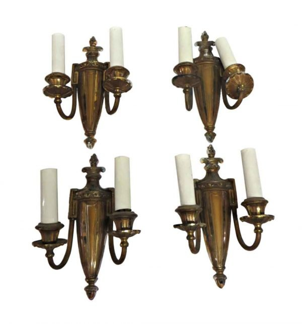 Sconces & Wall Lighting - Set of 4 Neoclassical Two Arm Wall Sconces