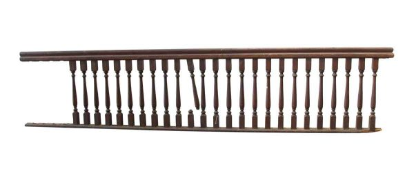 Staircase Elements - Wooden Railing Section with 25 Spindles