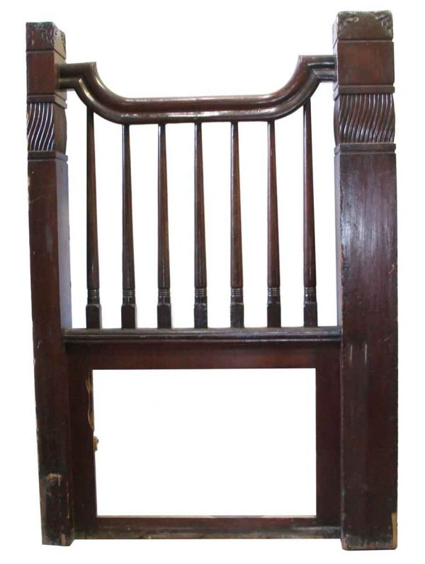 Staircase Elements - Wooden Stair Landing Railing with Post