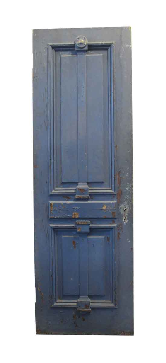 Standard Doors - Blue & Brown Carved Walnut Brownstone Door