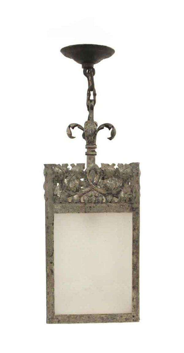 Wall & Ceiling Lanterns - Ornate Stamped & Hammered Metal & Glass Lantern