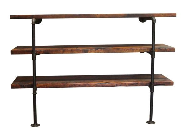 Altered Antiques - Pine Shelf Unit with Pipe Legs