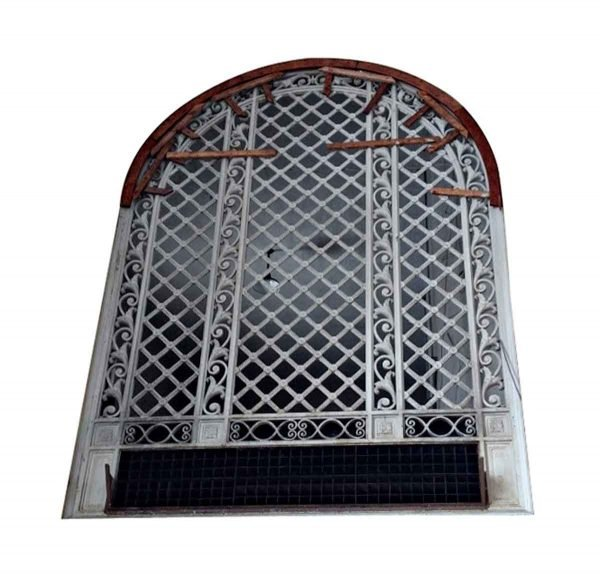 Balconies & Window Guards - Art Deco Cast Iron and Steel Palladian Arched Window Grill