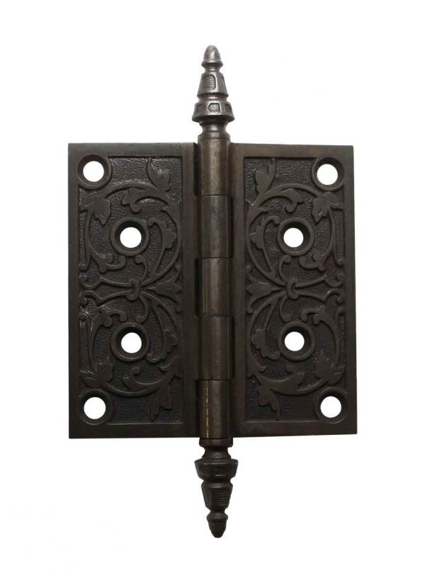 Door Hinges - Victorian 4.5 x 4.5 Steel Steeple Tip Butt Door Hinge