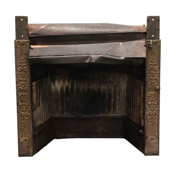 Heating Elements - Antique Brass Decorative Fireplace Insert Grate