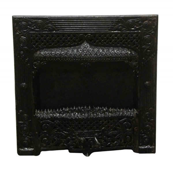 Heating Elements - W.M. Crane Co. Ornate Black Cast Iron Wall Insert Fireplace