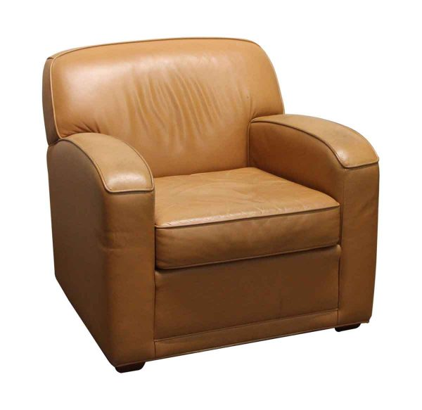 Living Room - Vintage Tan Leather Arm Chair