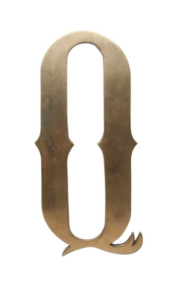 Other Hardware - Large 11.5 in. Solid Brass Letter Q