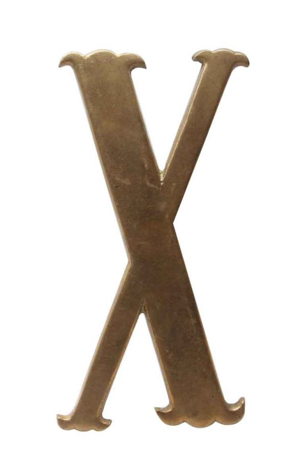 Other Hardware - Small 7.75 in. Solid Brass Letter X