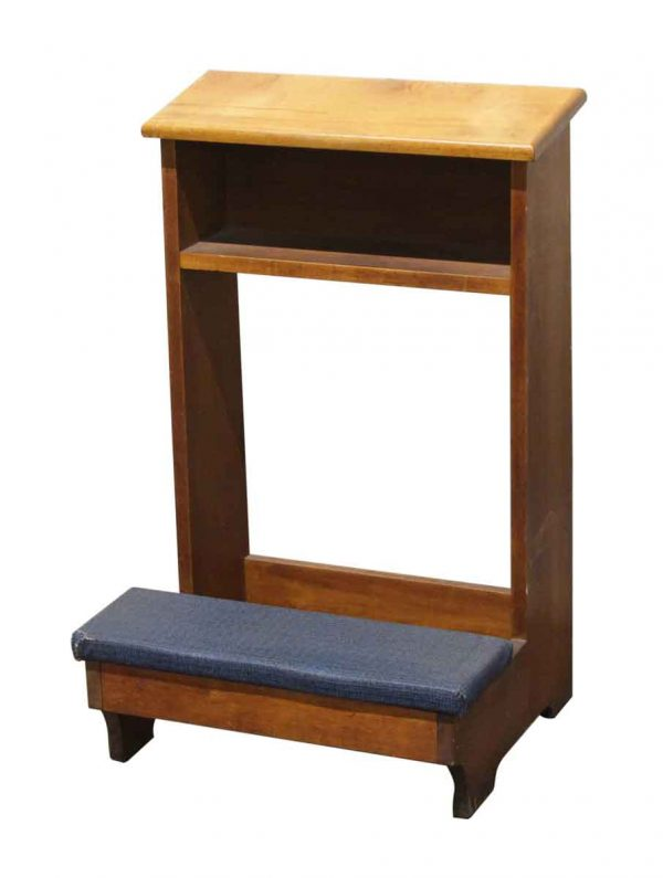 Religious Antiques - Reclaimed Wooden Church Kneeler