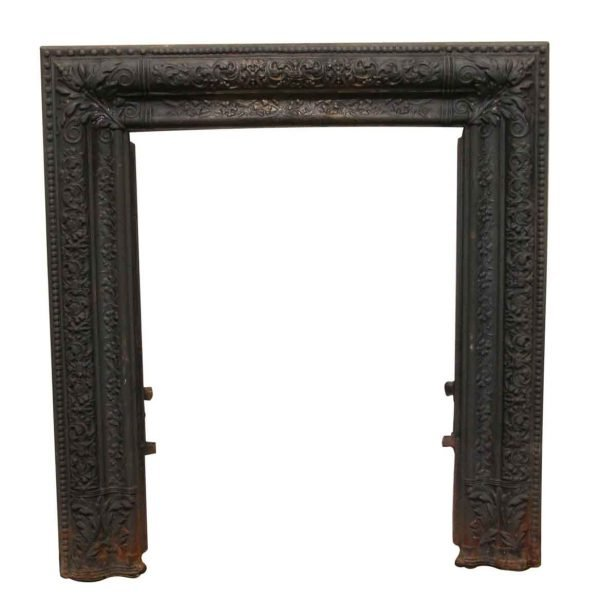 Screens & Covers - Antique Cast Iron Decorative Fireplace Surround