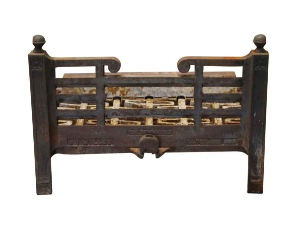 Tool Sets - Cast Iron Fireplace Log Holder with Ornate Detail
