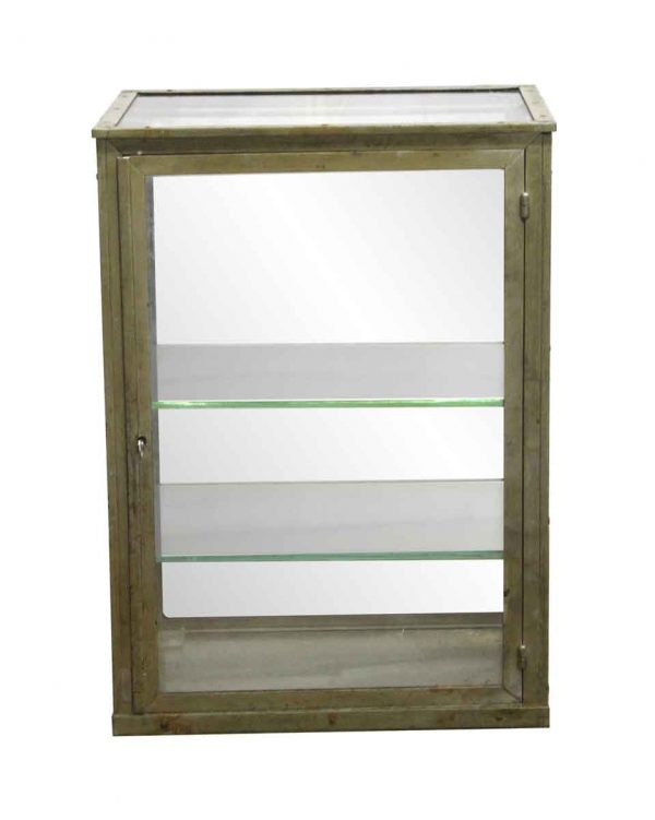 Armoires & Vitrines - Import Nickel Plated Tabletop Showcase