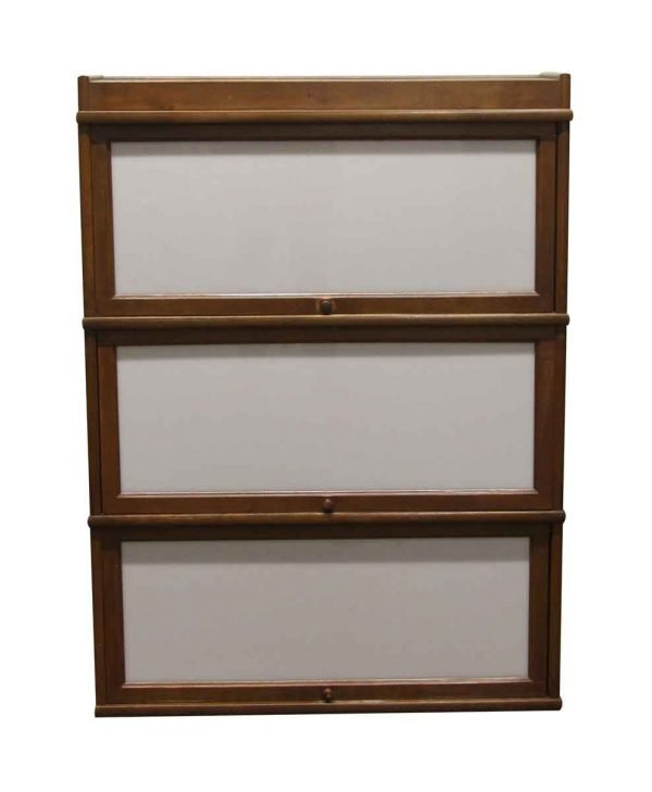 Bookcases - Antique 4 Foot Barrister Bookcase with White Glass