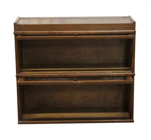 Bookcases - Vintage 2 Section Barrister Bookcase Cabinet