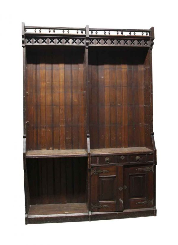 Cabinets & Bookcases - Aesthetic Antique Wood Back Bar Cabinets