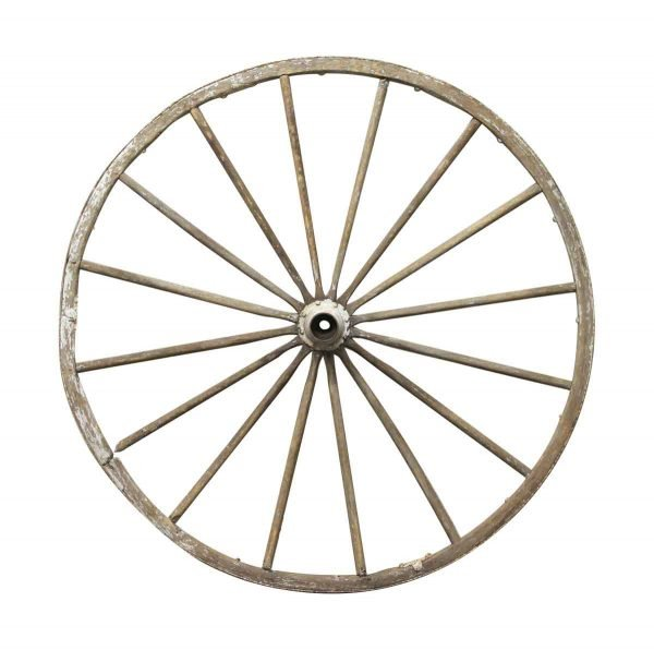 Car Fronts & Parts - Antique 4 Foot Wooden Wagon Wheel
