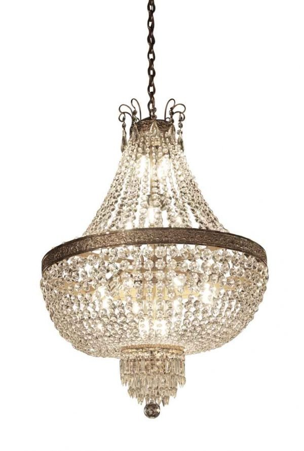 Chandeliers - Antique Palace Theater Crystal Basket Chandelier