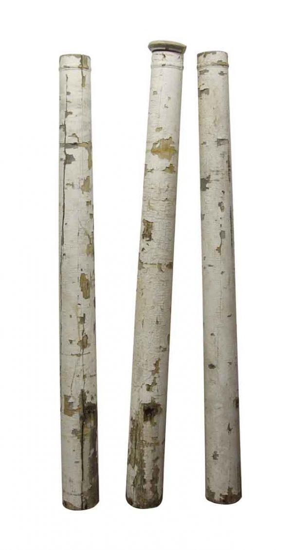 Columns & Pilasters - Salvaged Lot of White Wood Porch Posts