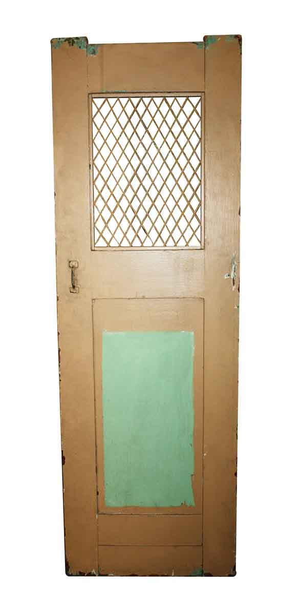 Commercial Doors - Vintage 2 Panel Commercial Door with Grill 70.25 x 23.25