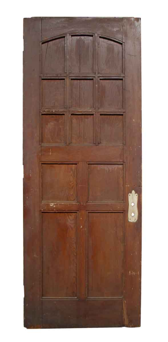 Entry Doors - 13 Arched Panel Entry Door 89.5 x 33.75