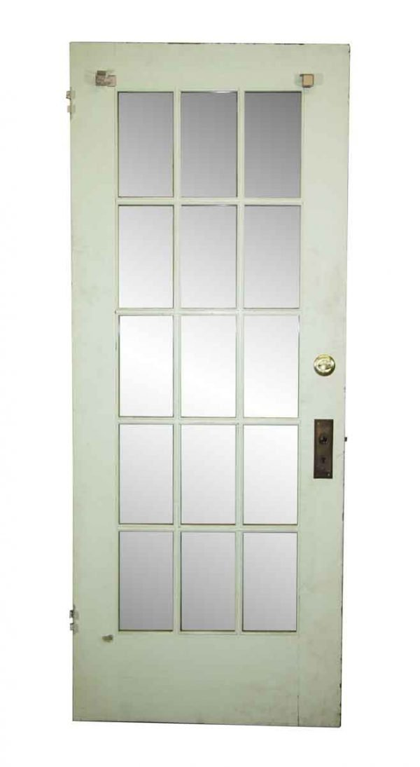French Doors - 15 Lite Antique French Door 79.125 x 31.625