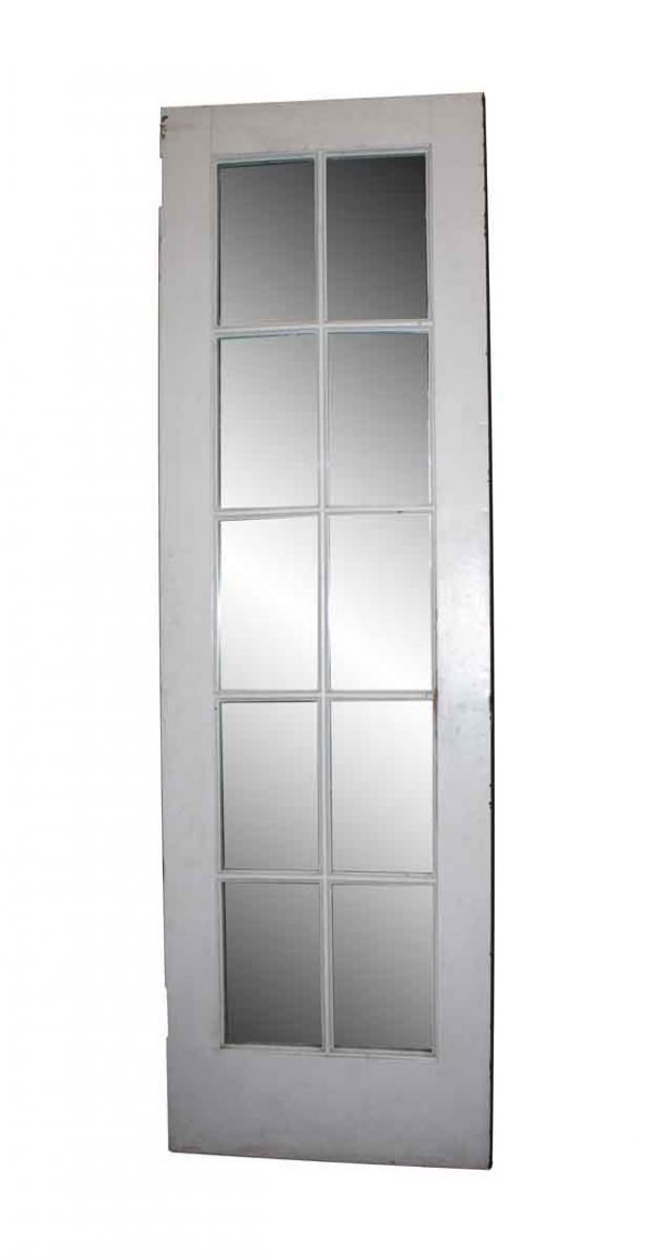 French Doors - Antique Metal Clad Mirrored French Door 97 x 30